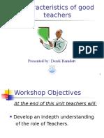 characteristics of good teachers - derek