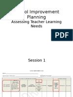 School Improvement Planning - Identifying Teacher Learning Needs Oct 1