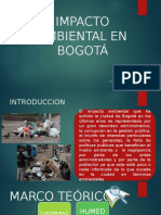 Impacto Ambiental en Bogotá Problemas