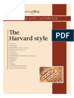 Harvard style of citation