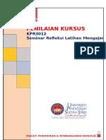 Penilaian Kursus Kpr 3012 Sem 2 Sesi 2015 2016