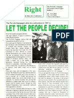 Pro Life Campaign Ireland Newsletter - Birthright Spring 1997