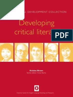 BROWN, K  (1999) Book Developing Critical Literacy  Sydney