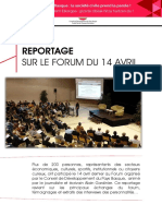 Retour Sur Le Forum de La Societe Civile