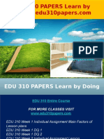 EDU 310 PAPERS Learn by Doing - Edu310papers.com