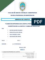 Planeacion Estrategica de Logistica Procesos Ventajas Competitivas de La Logistica y Cadena de Produccion