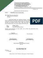 Surat Permohonan Dana Rektorat