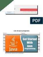 Programs in Java