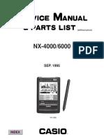 Casio Digital Diary NX4000-6000