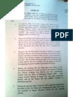 Affidavit of Senator Antonio Trillanes IV