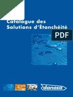 Catalogue des solutions d´étanchéité DANOSA
