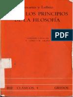 Descartes Rene Y Leibniz Gottfried Wilhelm - Sobre Los Principios De La Filosofia.pdf