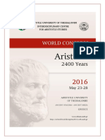 «Aristotle 2400 Years» World Congress Programme