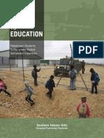 SHH-School Accompaniment Report 2008-09-Closed Road