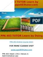 PPA 403 TUTOR Learn by Doing-ppa403tutor.com