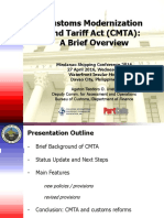 Customs Modernization and Tariff Act presentation - Mindanao Shipping Conference 2016