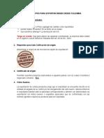 Requisitos Para Importar y Exportar en Colombia