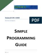 Uniwell UN-1000 - Cash Register Manual