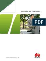 NE80E Core Router V600R002 Product Brochure
