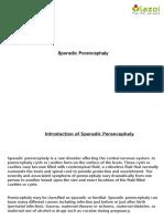 Sporadic Porencephaly