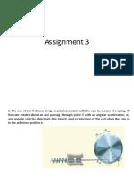 Assignment on Mechanics