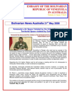 Australian Bolivarian Embassy News Vol 2 Issue 5 May 21st 2008[1]