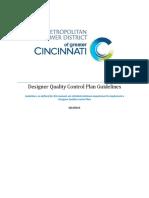 Designer Quality Control Plan Guidelines