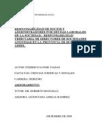 RESPONSABILIDAD DE SOCIOS Y ADMINISTRADORES POR DEUDAS LABORALES DE LA SOCIEDAD.- RESPONSABILIDAD TRIBUTARIA DE DIRECTORES DE SOCIEDADES ANONIMAS EN LA PROVINCIA DE BUENOS AIRES.