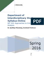 INT 322 Online Spring 2016_1_12_2016