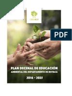 Plan Decenal de Educacin Ambiental Departamento de Boyac 2016-2025