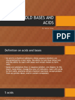 household bases and acids