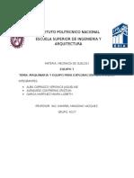 Maquinaria y Equipo Para La Exploracion Geotecnica.