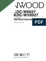 Kenwood KDC Instruction Manual
