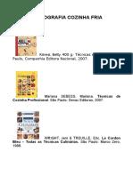 Bibliografia Gastronomia Cozinha Fria