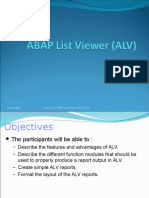 Chapter 01_Overview of ABAP List Viewer (ALV)