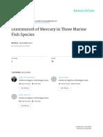 Mercury in Three Marine Fish Species