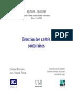 UCL - Détection Des Cavités Souterraines - Thimus