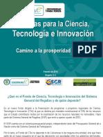 Generalidades FCTeI - SGR_Feb20´14