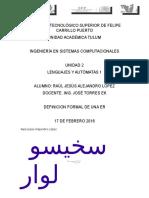 Definicion Formal de Er-lenguajes y Automaras 1-Unidad 2