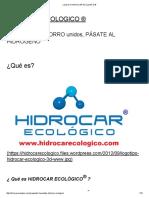 ¿Qué es_ _ HIDROCAR ECOLOGICO ®