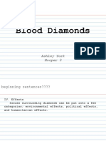 blood diamonds note cards