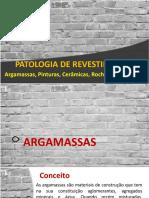 AP6 - PATOLOGIA REVESTIMENTOS