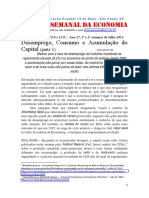 Crítica 1110 1111 Desemprego, Consumo e Acumulação do Capital (parte 1) 1ª e 2ª Semanas de Julho 2012