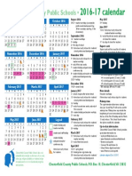 chesterfield county public schools school year calendar 2016-2017