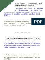 1 Cor 11.2-16 - Dr. Carlos O C Pinto - Prof. Fabiano Ferreira