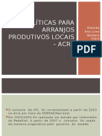 Políticas Para Arranjos Produtivos Locais - Acre