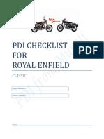 RE Classic Pre-Delivery Checklist v1.0