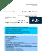 (DC) (EAD) Fiche n°3 - Le pouvoir législatif sous la Vème République
