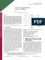 Cross-coupling Reactions of Organoboranes