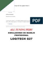 Simuladores de Manejo G27 de Logitech Stock 3